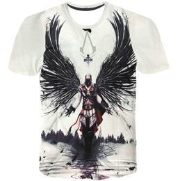 Wholesale Assassins Creed Tshirt - Assassins Creed T shirt Desmond Knight Templar short sleeve gown Assassin tees Game printing clothing Unisex cotton Tshirt