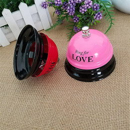 Wholesale Restaurant Reception Counter - Colorful Metal Bell Desk Kitchen Hotel Counter Reception Restaurant Bar Ring for Service Call Bell