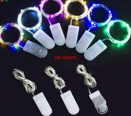 2020 tira micro led 2 M 20 LEDs led luz da corda CR2032 Bateria Operado Micro Mini Fio de Cobre de Prata Luz Estrelada LEVOU Tiras Para O Natal decoração de Halloween tira micro led barato