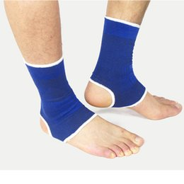 Wholesale Ankle Protection Football - Wholesale- 1 pair Elastic Outdoor Sports Exercise Football Soccer Volleyball Tennis Safety Ankle Support Brace Protection Guard Protector