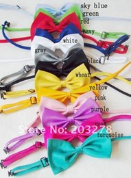 Wholesale Cheap Silk Ties Wholesale - Wholesale- Unisex Polyester Silk Cheap Bow Tie Fashion Solid Color Casual Bowtie 12*6cm 17 colors free shipping