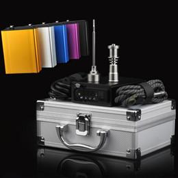 Wholesale Hookah Heater - Dab rig Kit Digital Electronic DNail Dab multicolor E-Nail Wax Vaporizer hookah Titanium Nail heater coils temperature control box