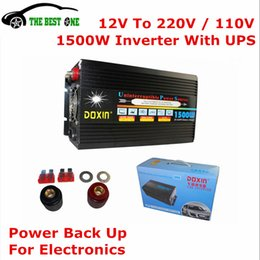Wholesale Auto Volts - Wholesale- Compact Design Doxin Auto Power Inverter 1500W (Nomal) With UPS System Car Charger Inverter 3000W (Peak) ,12V To 220V (DC To AC)