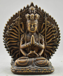 Wholesale Kwan Yin Statues - Exquisite Chinese Collectible Old Handwork Alabaster Buddhist Goddess Kwan-yin Statue