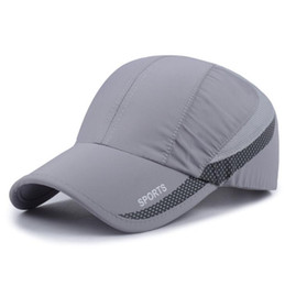 Wholesale Sports Cap Low Price - New Summer Men Sport Golf Hats Outdoor Casual Baseball Cap Adjustable Size Travel Shade Hat Running Caps for Women Low Price