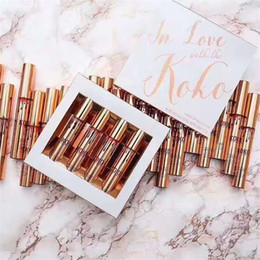 Wholesale Wholesale Doll Kits - Kylie KOKO Kollection 2 liquid lipstick Lip gloss Set Kit In Love With the koko Doll Sugar Plum Bunny Baby Girl Kylie Cosmetics