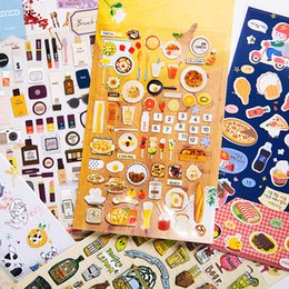 Wholesale Transparent Mobile Stickers - Cell Phone Skins DIY Stickers Cartoon Creative Transparent PVC Mobile Decor Animal Food 19*10cm Mix Style