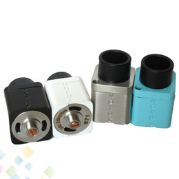 Wholesale Huge Vapr Noxus RDA Rebuildable Atomizer Two airholes on the deck with Magnet Top Cap Square Design fit E Cigarette DHL Free