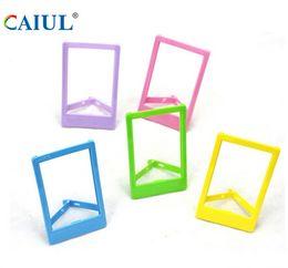 manuel de carte sd Promotion Wholesale-CAIUL Plastic photo frame for Hiti Pringo P231 P232 photo printer paper 3 inch L shape photo frame colorful photograph frame