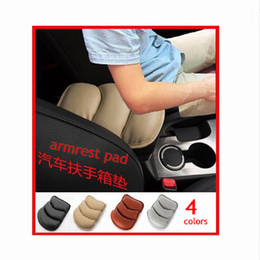 Wholesale quality car mats - Quality SUV Car Seat Armrest Pad Mat Central Console Storage Cover Soft Leather Car Interior Accessories