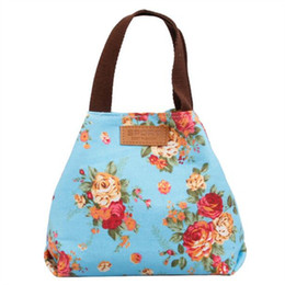 Wholesale Long Handle Purses - Wholesale- Fashion Women Bags Canvas Fabric Lady Handbags Moneybags Flowers Long Zipper Coin Purse Flower Woman Purses Totes Top Handle Bag
