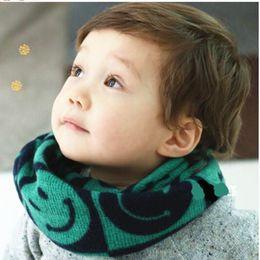Wholesale New Girls Muffler Styles - Wholesale- Limited Print Children Ring Retail Multicolor Baby New Style Designer Muffler Brand Knitting Kids Scarfs Neck Warmer,girls
