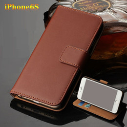 Wholesale Iphone4 Leather Kickstand - Wholesale Wallet Leather Case Magnetic For Iphone4 5 5s SE 5c 6S 6 plus 7 7 plus