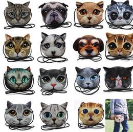 2019 modo del sacchetto di spalla del gatto Carino 3D Cat Bag Cartoon Messenger moda 3D stampa animale faccia Borsa per le donne Crossbody Bag 3D Mini tracolla KKA2918 modo del sacchetto di spalla del gatto economici