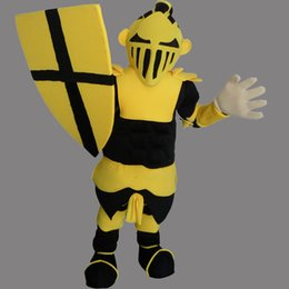 Wholesale Mascot Knight - English Knight Warrior Mascot Costume Fancy Party Dress Halloween Carnival Costumes Adult Size High Quality free shipping