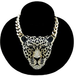 Wholesale united jewelry - women sweater accessories sweater chain Europe and the United States Hot Fashion Leopard Head Necklace Jewelry long section necklace
