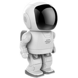 Wholesale New Ptz Ip Camera - New-Designed cute Robot style PTZ control HD 960P home security ip network baby surveillance intelligent security Robot camera