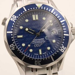 Wholesale Sapphire Automatic Professional - Wholesale - Free Shipping James Bond 007 Limited Edition Professional Mens Sprots Stainless Steel Automatic mechanical Watch