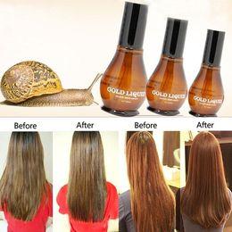 Cheveux secs à l'huile en Ligne-Escargot pour cent Pure 100 Huile capillaire Macadamia Nut Traitement du cuir chevelu pour les cheveux secs et abîmés Make Your Hair Soft Shine (Couleur: Brun)