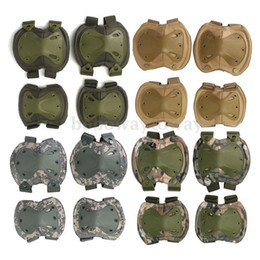 Wholesale Paintball Elbow Pads - NEW Tactical paintball protection knee & elbow pads set Sports Safety Protective Protector Gear Hunting Shooting Pad