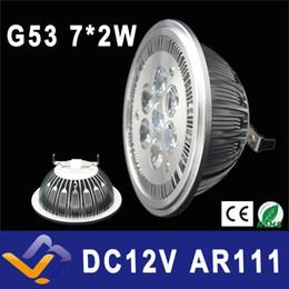 Lampe g53 ar111 en Ligne-Vente en gros- G53 ES111 QR111 AR111 lampe LED 14W spots blanc chaud / blanc nature / blanc froid entrée DC 12V