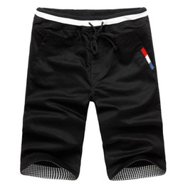 Wholesale Cheap Black Pants Men - Wholesale- Cheap Sales 2016 Summer New fashion men's Shorts Men casual Shorts cotton Men solid color Short pants beach Brand M-XXXL