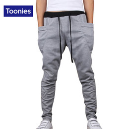 Wholesale Pantalones Cargo Hombre - Wholesale-2016 New Fashion Unique Pocket Mens Joggers Cargo Men Pants Sweatpants Slim Harem Pants Men Jogger Pants Men Pantalones Hombre