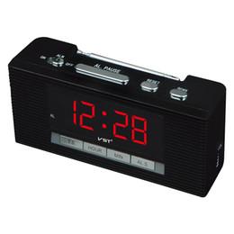 Fonction récepteur radio en Ligne-Récepteur radio FM en gros-LED avec fonction horloge Mini-radio FM multifonction FM 88 ~ 108MHZ Récepteur radio 4 couleurs