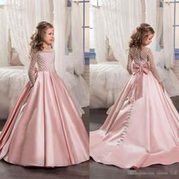 9e794ec2b4d3 Ultime 2017 Blush Pink Stain A-line Abiti da sposa per Matrimoni a buon  mercato gioiello a maniche lunghe con tasca paillettes festa di compleanno  abiti più
