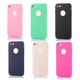 Wholesale Silicone Iphone Solid - Iphone 7 Case Ultra Thin TPU Solid Color Frosted For Iphone 7 7plus 6 6s Plus Case Apple Series Raindrops Mobile Cover