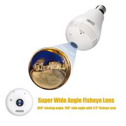 Wholesale light bulb dvr camera - WIFI P2P Lamp Bulb DVR IP camera HD 960P 360 degree GLobe Panorama Cam Motion Detection LED Light Camera wireless Surveillance home security