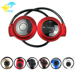 Wholesale Ipad Bluetooth Headset Music - Mini 503 Wireless Bluetooth Headphone Stereo Handsfree Sports Music Earphone Headset for Iphone 6 6s 5s Ipad Samsung S6 S5 HTC Apple Earbuds