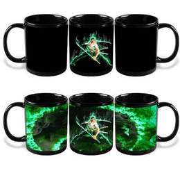 Wholesale green tea men - Ceramic Bone Mug The Green Man Zoro Color Change Cup Anti Wear Mugs Coffee Tea Tumbler With Handle Cups Discolored Mug CCA6380 48pcs