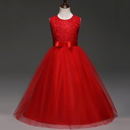 Wholesale High End Prom Gowns - Kid Wedding Flower Girls Dress High-end Princess Party Pageant Formal Dress Sleeveless Prom Wedding Birthday Dress