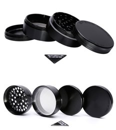 Wholesale Aluminium Alloy Material - DHL Space Case Grinders Herb Grinder 4 Piece Tobacco Grinders With Triangle Scraper Aluminium Alloy Material Herb Spice Crusher