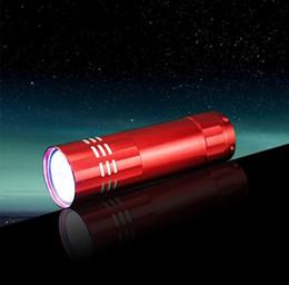 Wholesale Aluminum 9led Flashlight - 9LED Mini Aluminum UV Ultra Violet 9 LED Flashlight Blacklight Torch Light Lamp 100PCS free shipping JF-579