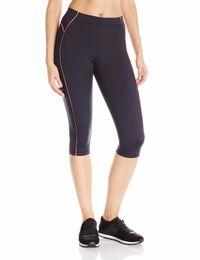 Wholesale Purple Yoga Capri - Wholesale- Women's Knee Tight Yoga Running Workout Sports Capri Leggings Pants