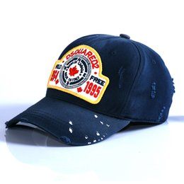 Wholesale United Hat - Baseball cap urope & the United States foreign trade cotton outdoor sun hat embroidery tennis cap Claret & Buff Blue