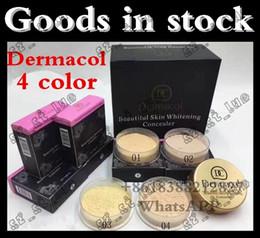 Wholesale Remove Spot Beauty - 120 PCS factory outlet 2017 new Dermacol powder oil control powder makeup lasting Concealer beauty spot sale free distribution
