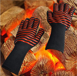 Wholesale Bbq Grill Gloves - Oven Mitts Gloves BBQ Grilling Cooking Gloves Resistant Gloves Long Extreme Heat For Extra Forearm Protection