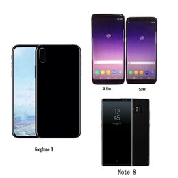 Wholesale Unlocking X Sim - Free DHL Goophone X S8 plus Note 8 i8 plus android Quad Core Smartphone mobile show Octa 64GB 4G LTE Unlock Cell Phones Sealed box