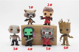 Wholesale Guardian Tree - Chanycore Funko pop Bobble Head Groot Star-Lord Rocket Drax Gamora Tree man Guardians of the Galaxy Anime Vinyl PVC model toy