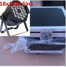 Wholesale 5in1 Led Par - 4pcs 18x15W LED Par Lights with RGBWA 5in1 LED Par Channels Led Flat Par Lights