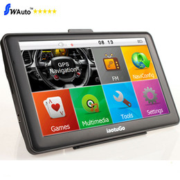 "Wholesale Car Navigation Systems Bluetooth - Original iaotuGo 7"" Capacitive Car Truck GPS Navigator Truck Navigation System Bluetooth AVIN 128M 8G FM Free Maps Updated"
