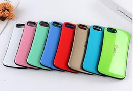 Wholesale Iface Silicon Case - Top verkauf iface mall bicolor welle silicon case für iphone 7 7 plus plus zurück shell schutzfolie handy haut für iphone 6 6 s 5 s SE