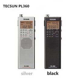 Wholesale tecsun radio digital portable - Wholesale-Factory Outlets Tecsun PL 360 portable radio usb digital AM FM pocket radio recorder Shortwave PLL DSP ETM SW MW LW Receiver