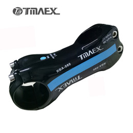 Wholesale Bicycle Stands - Carbon Stem Bicycle Stem Road MTB Bike Stems TMAEX 080 Bicycle Stand 6  17 Degree Blue Gloss 80 90 100 110 120mm
