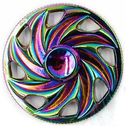 Wholesale Axis Rotation - New arrival Rainbow Fidget Spinner Toy Butterfly Fish Thor Egyptian Beatle Rotation Hand Spinners Alloy Bearing Axis EDC Finger Tip OTH463