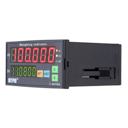 Controlador de entrada de salida online-Freeshipping Digital Weighing Controller Load-cells Indicator 1-4 Load Cell Signals Input 2 Relay Output 6 Digits LED Display