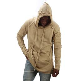 Argentina nuevo diseño con capucha rasgado daños hombres color moda sudaderas marca orignal diseño ocasional traje suéter otoño cheap sweatshirts ripped Suministro